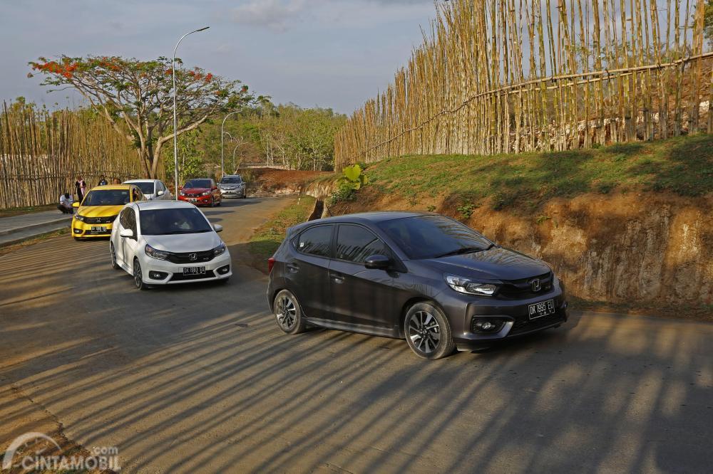 Tampak All New Honda Brio sedang dites jalan di Bali