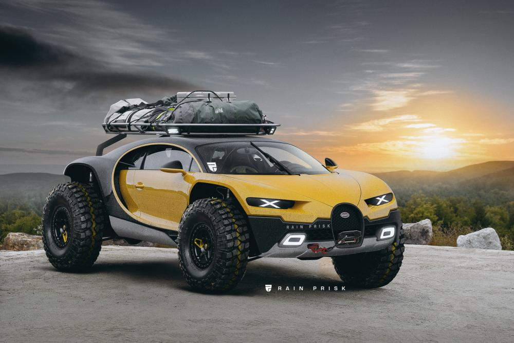 Gambar rekayasa Bugatti Chiron Off Road