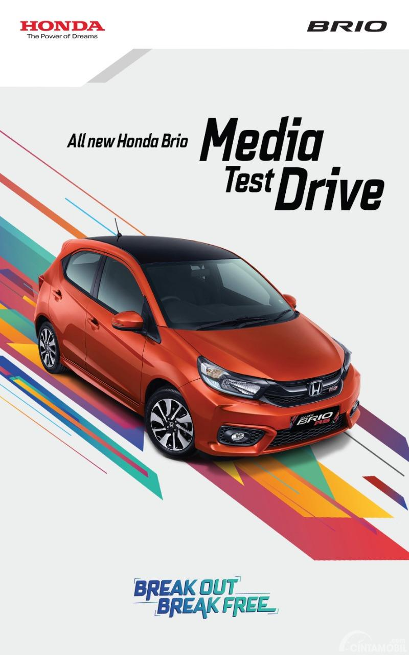 Tampak Banner All New Honda Brio Media Drive 2018