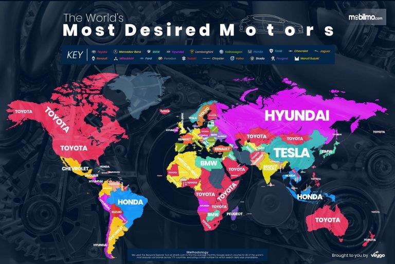 Gambar yang menunjukan peta pencarian merek mobil