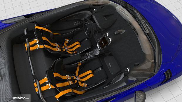 Gambar yang menunjukan konfigurasi mobil McLaren