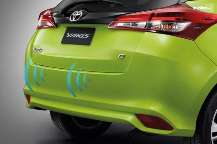 Gambar yang menunjukan sensor Toyota New Yaris 1.5G A/T