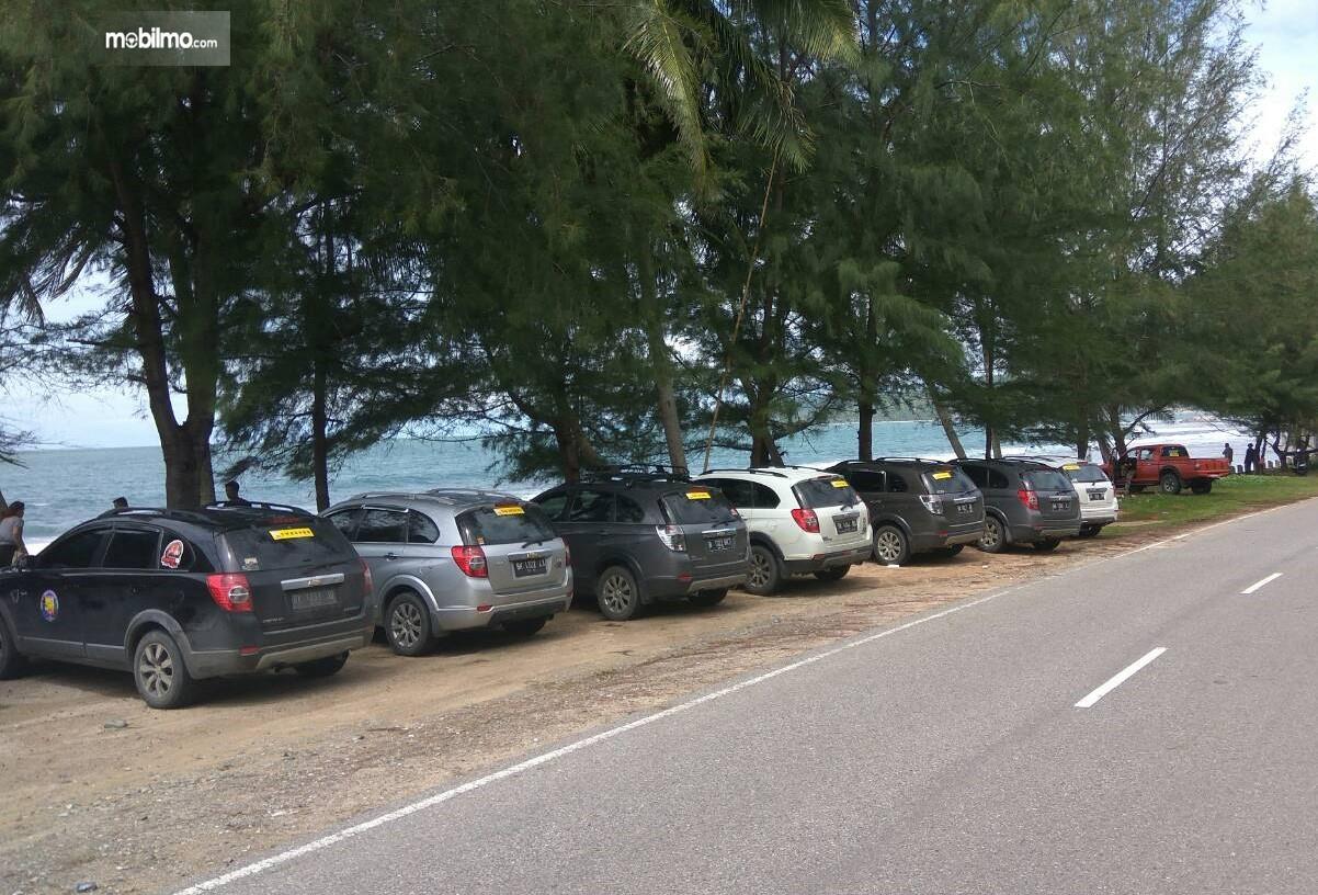Foto kegiatan touring Komunitas Captiva Aceh