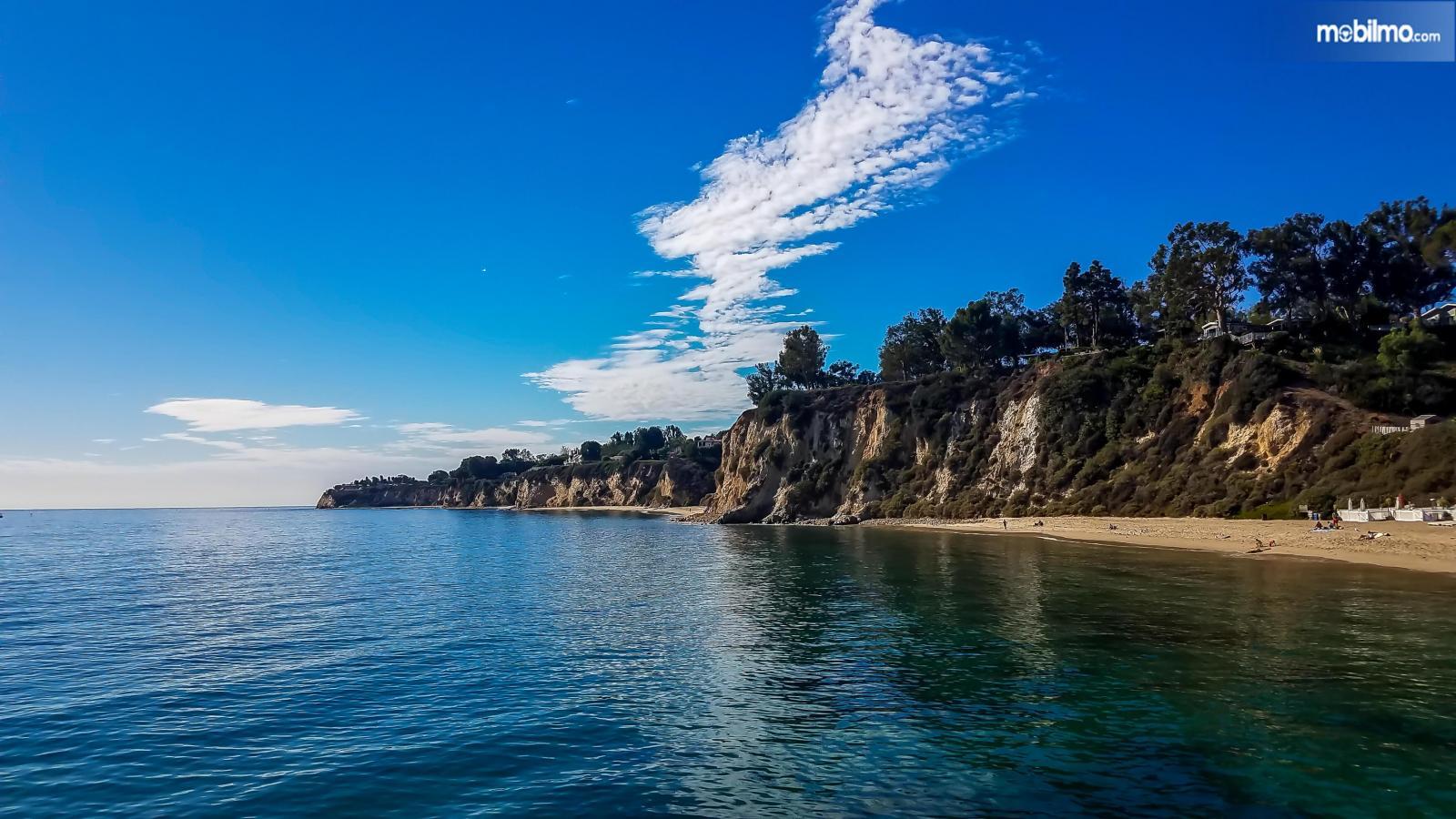 Foto keindahan Pacific Palisades di California