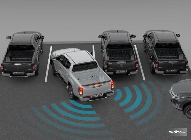 Gambar menunjukkan ilustrasi fitur di mobil Mitsubishi Triton 2019