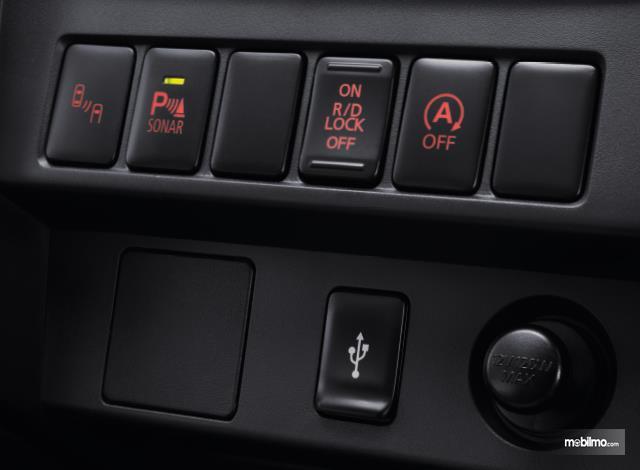 Gambar menunjukkan tombol pengatur fitur off-road pintar