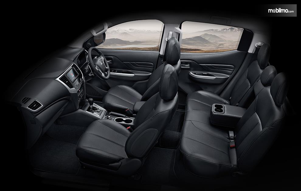Gambar menunjukkan Layout kursi Mitsubishi Triton 2019