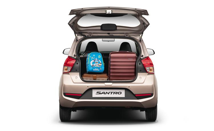 Gambar ruang bagasi mobil  Hyundai Santro 2019