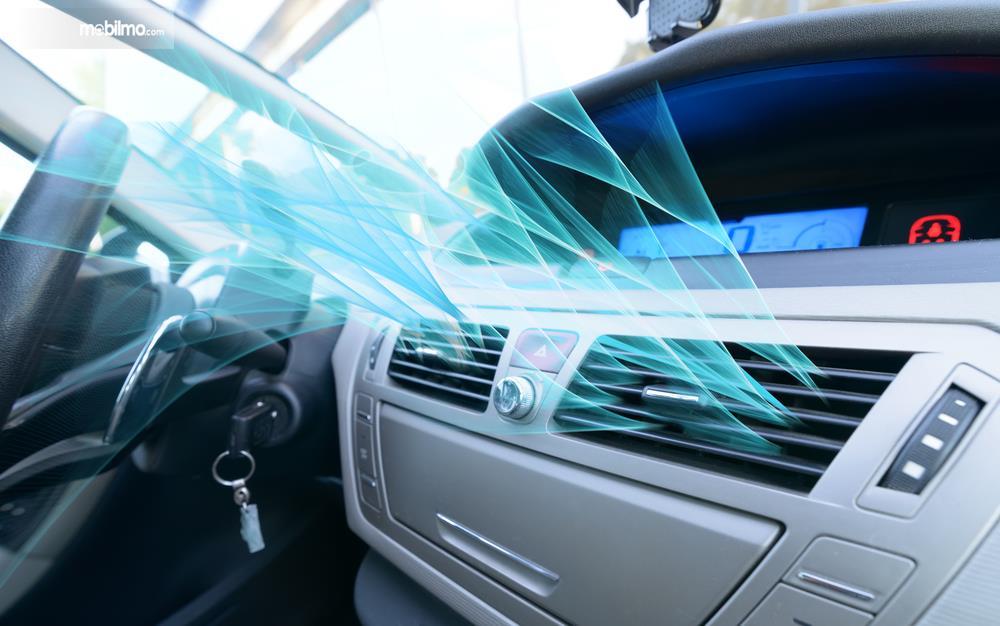 Gambar ilustrasi hembusan angin AC mobil