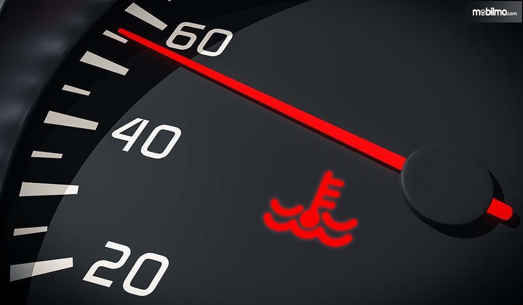 Gambar indikator suhu mobil pada panel dashbord