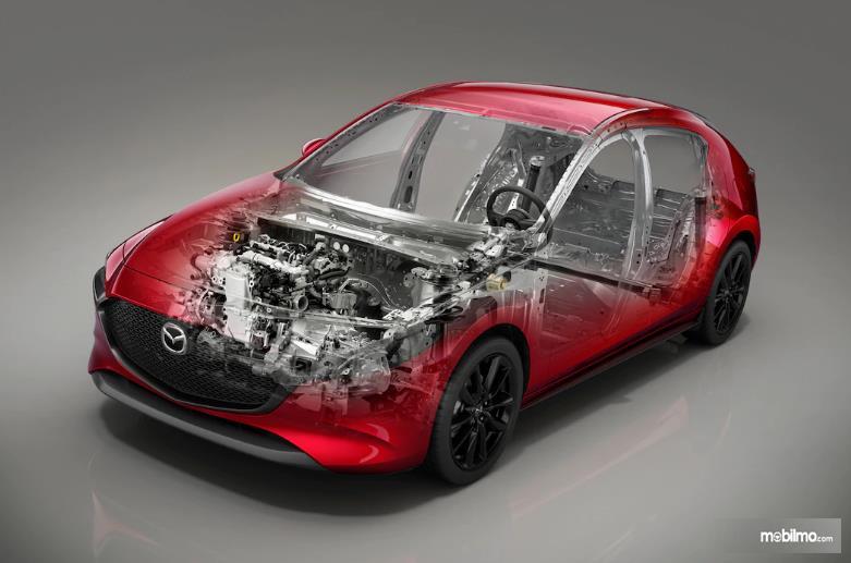 Gambar rangka Mazda 3 2019