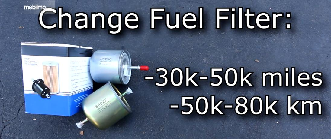 Foto masa penggantian saringan bahan bakar