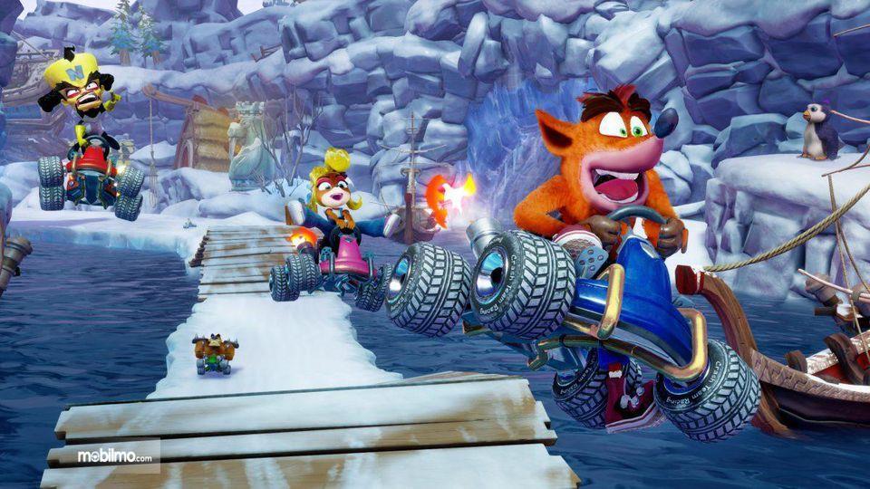 Gambar tampilan baru Crash Team Racing