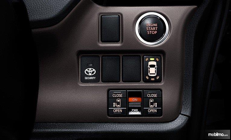 Gambar menunjukkan fitur-fitur pada mobil Toyota Voxy 2018