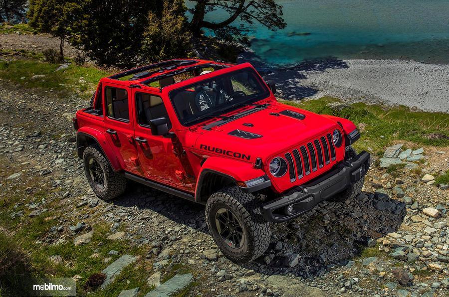 Gambar tampilan atas Jeep Wrangler JL 2019