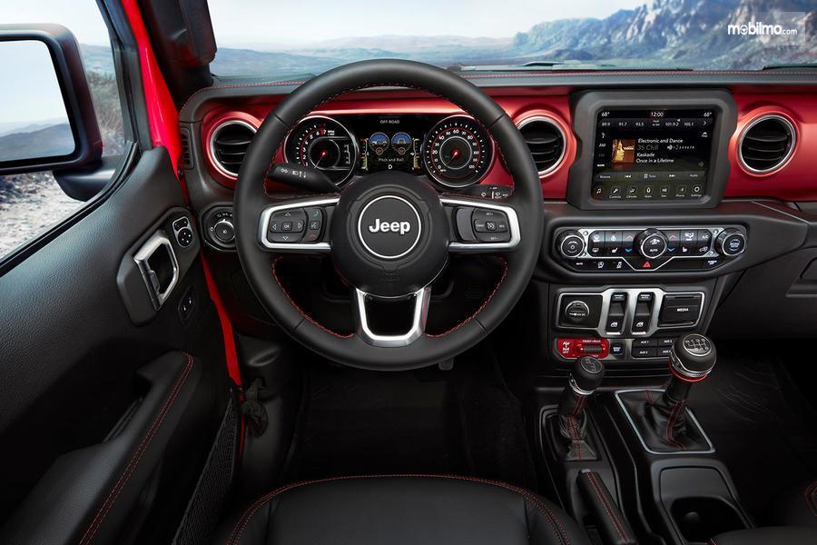 Gambar dasbor Jeep Wrangler JL 2019