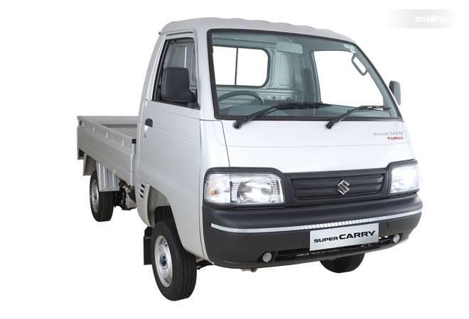 Tampilan depan mobil Suzuki Super Carry Pick Up Diesel 2019 berwarna putih