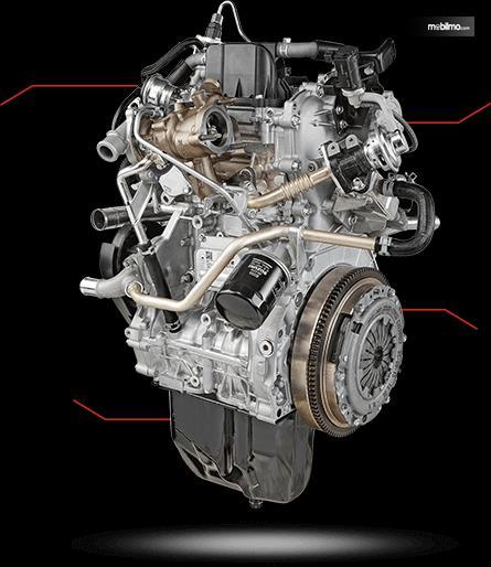 Tampak Sebuah Mesin Suzuki Super Carry Pick Up Diesel 2019
