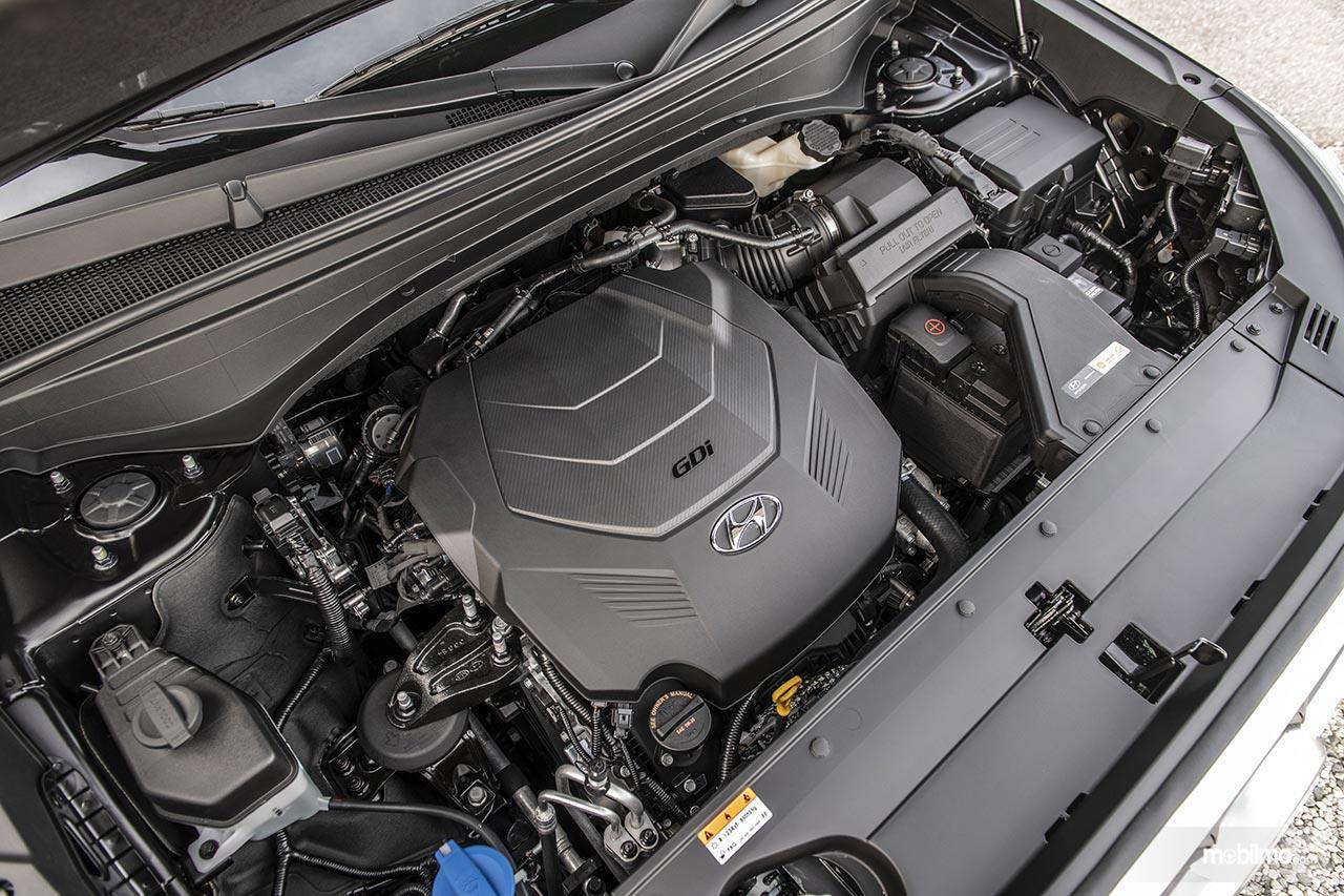 Gambar bagian Mesin GDI direct injection V6 pada Hyundai Palisade 2019