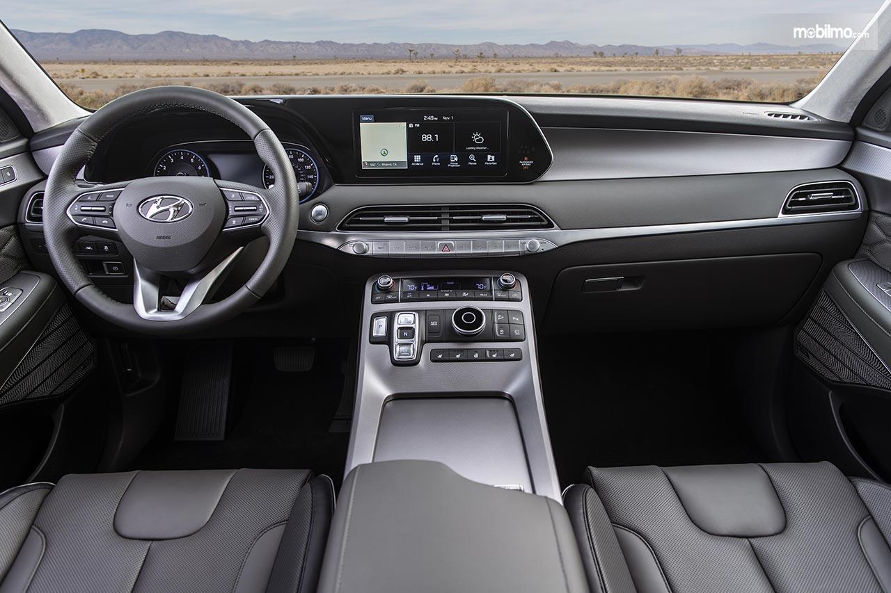 Gambar menunjukkan Layout dasbor Hyundai Palisade 2019