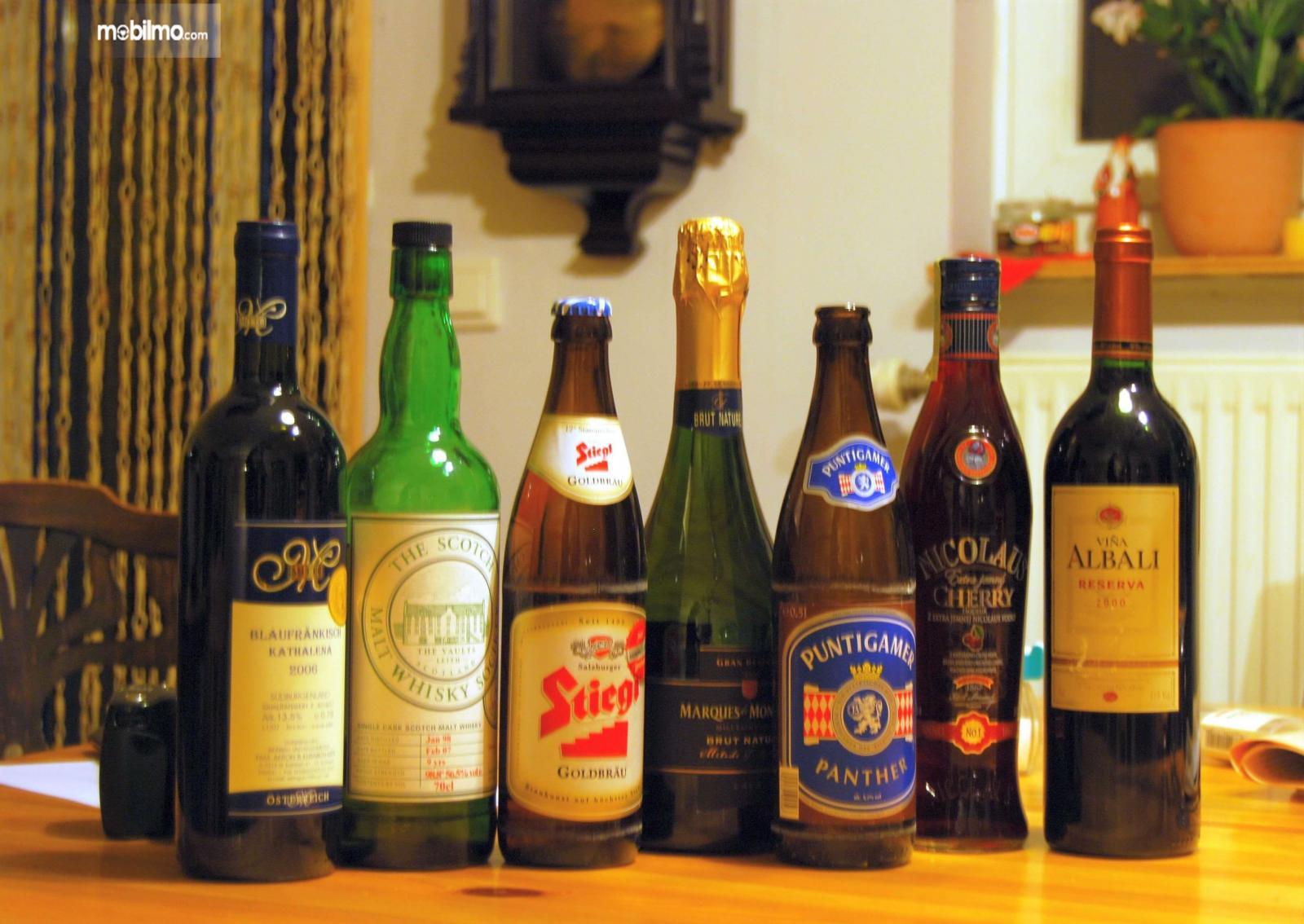 Foto macam-macam Minuman beralkohol