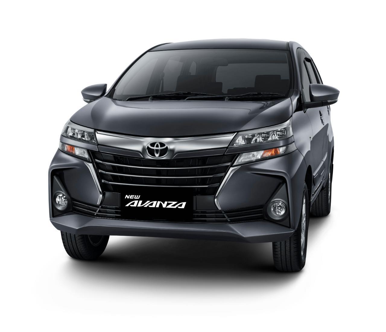 Tampak tampilan depan New Toyota Avanza 1.5 G M/T 2019 berwarna hitam