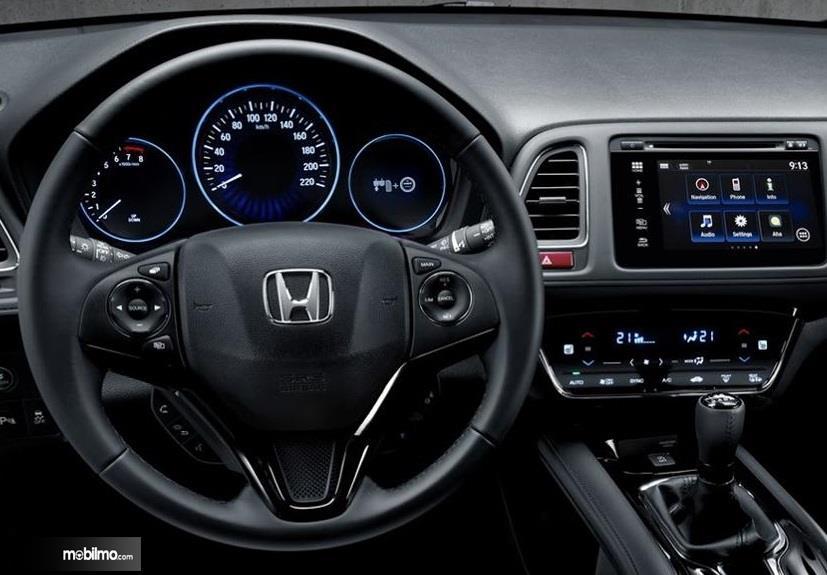 Kemudi Honda HR-V Sport Turbo 2019 berwarna hitam
