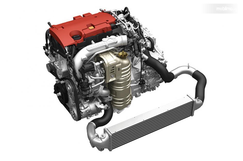 desain mesin 1.5 liter VTEC Turbo berlatar putih