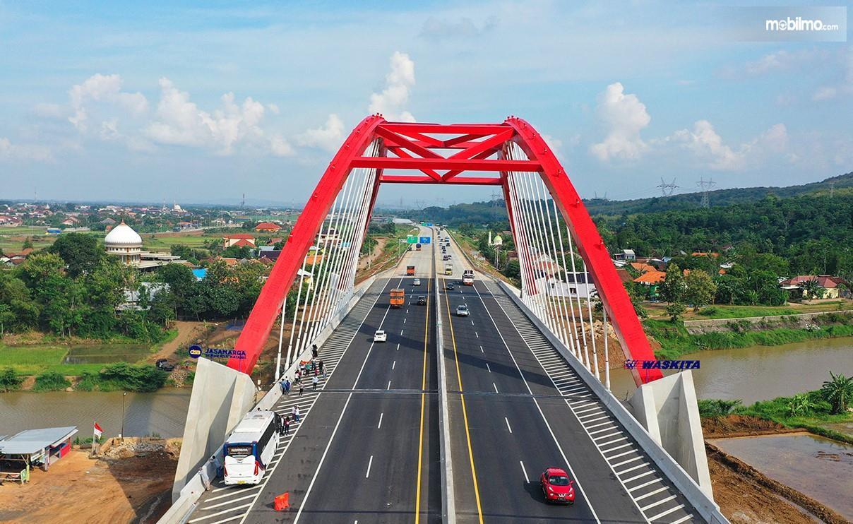 Foto Jembatan Kali Kuto jalan tol trans Jawa