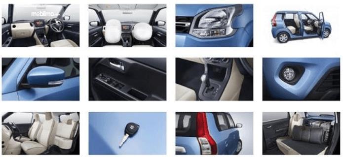 Gambar ini menunjukkan beberapa fitur yang dimiliki Suzuki Wagon R 2019 yang dirilis di India