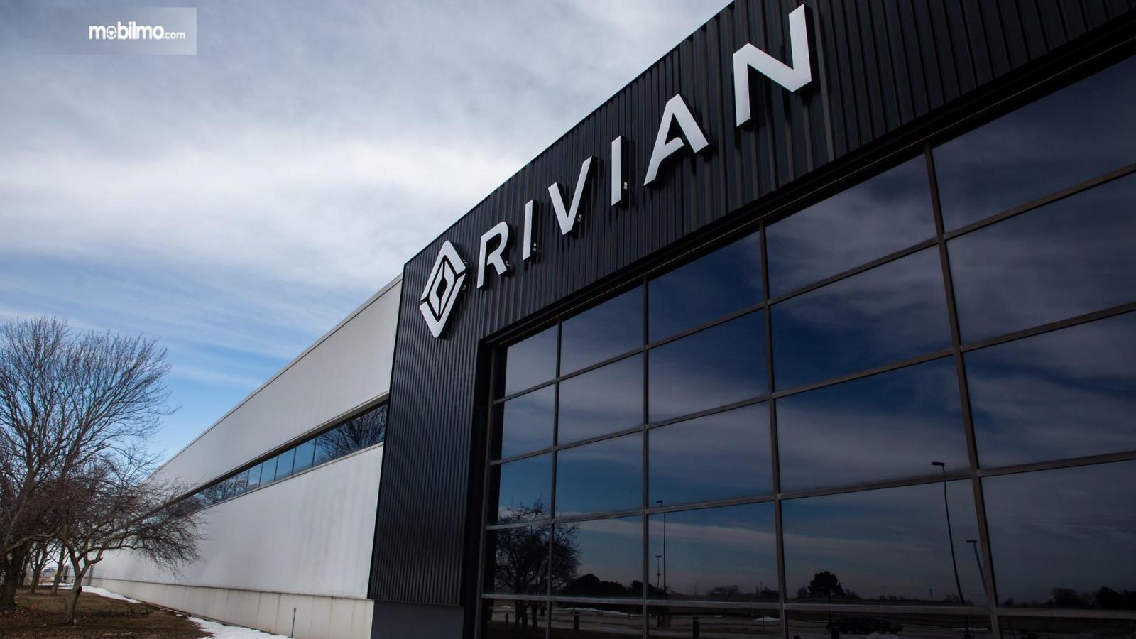 Foto pabrik perakitan mobil listrik RIVIAN
