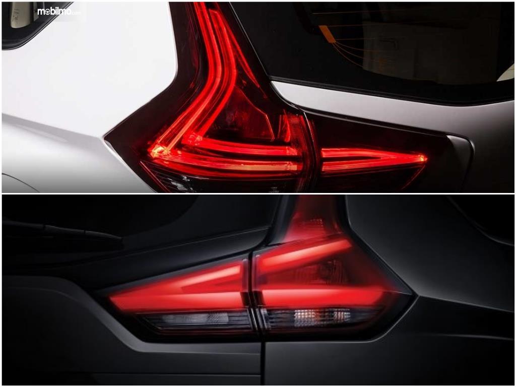 LED pada lampu belakang berbeda antara Livina dengan Xpander