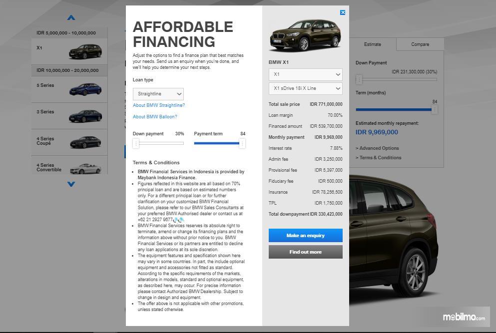 Proses akhir BMW Financial Service