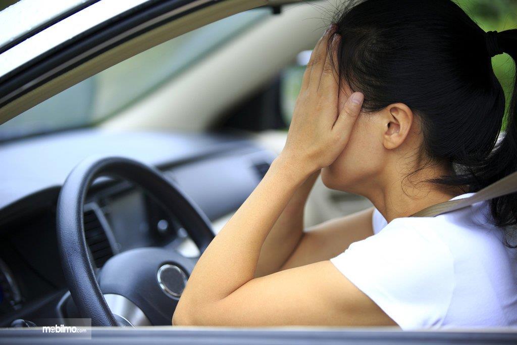 Foto ilustrasi ketakutan saat naik mobil