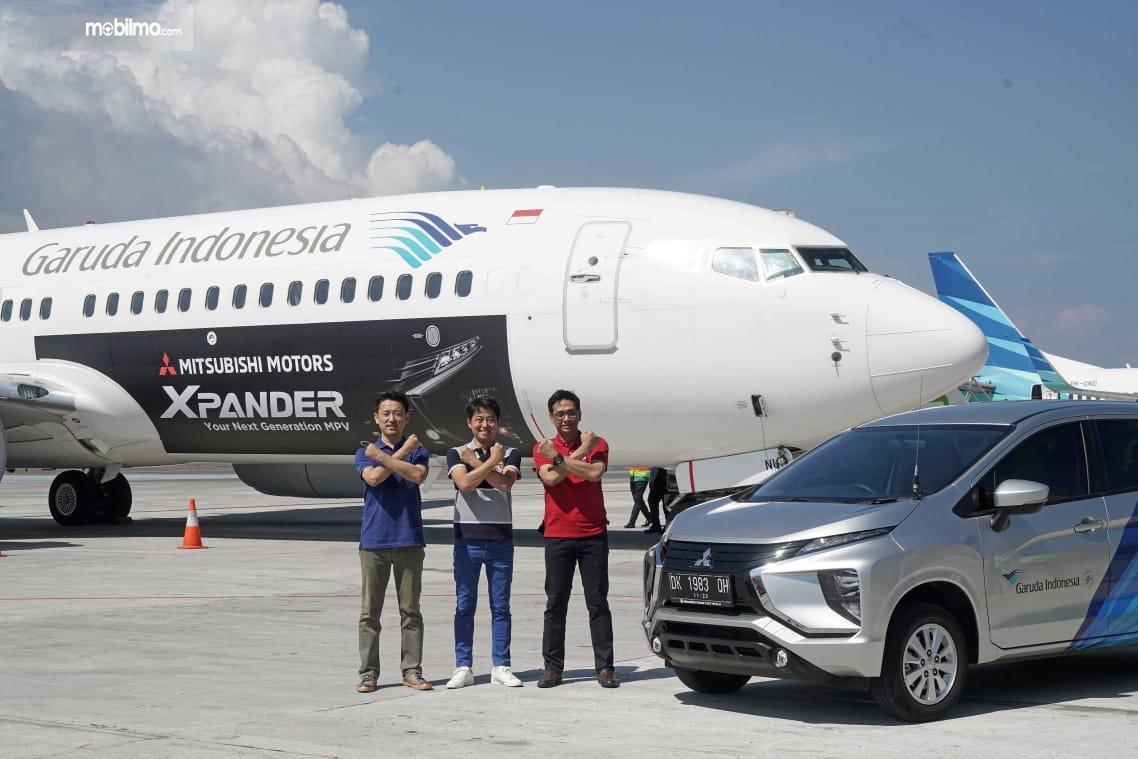 Ilustrasi Mitsubishi Xpander bekerja sama dengan Garuda Indonesia