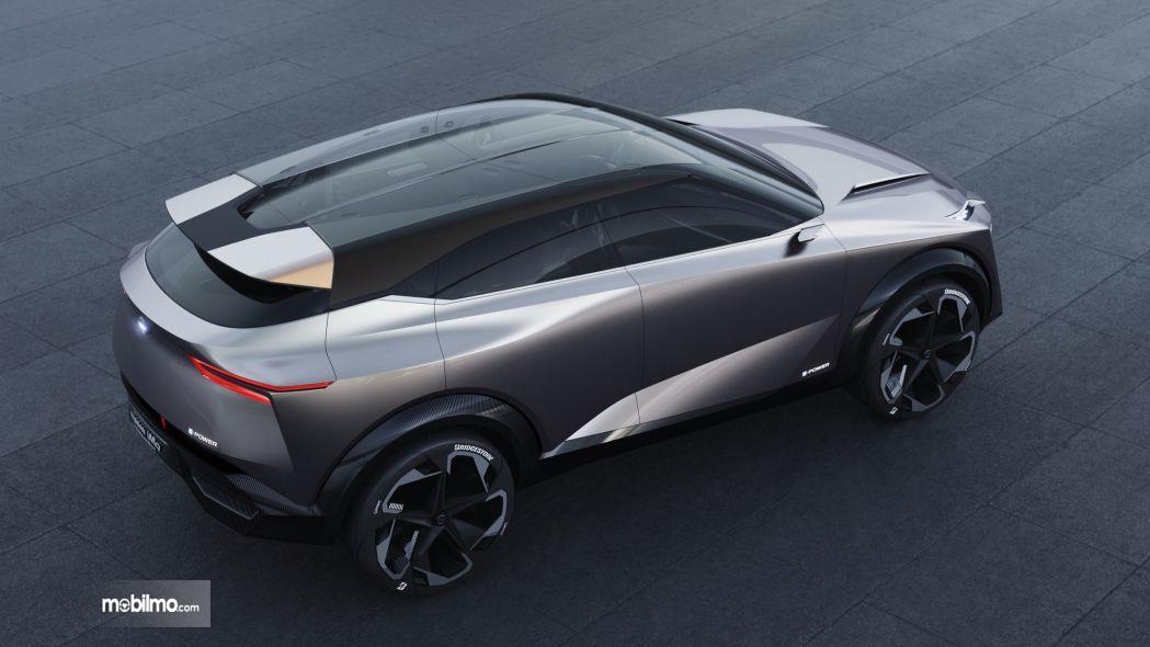 Foto Nissan IMQ Hybrid tampak dari atas