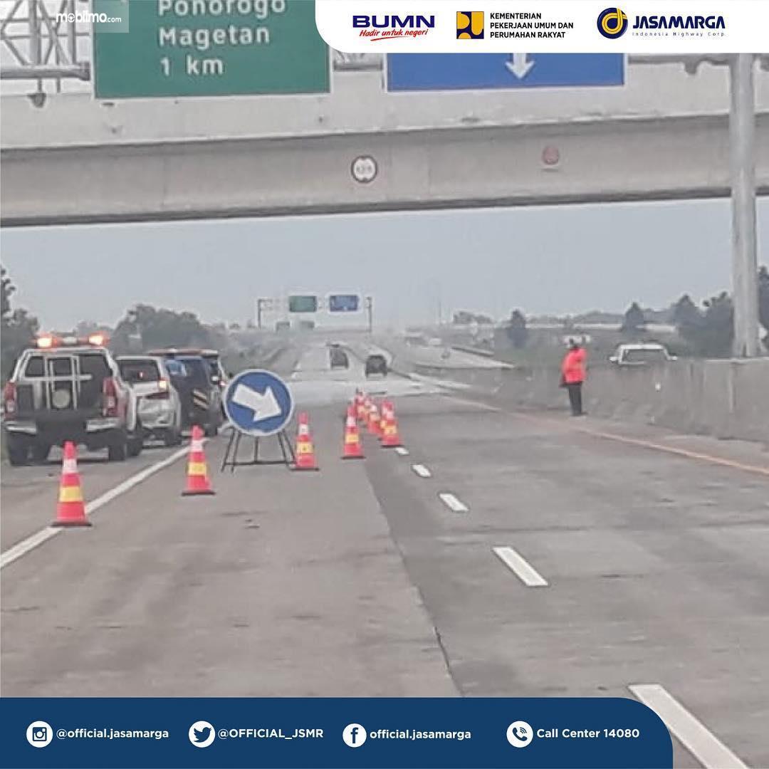 Foto Jalan Tol Ngawi Kertosono sudah dibuka usai banjir