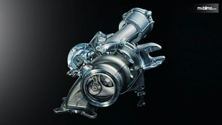 Review Skoda Fabia R5 2019: Tampak turbo di mesin Skoda Fabia R5 2019
