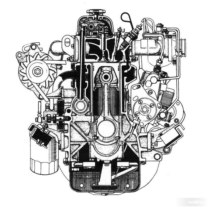Tampak Mesin Toyota BJ Diesel