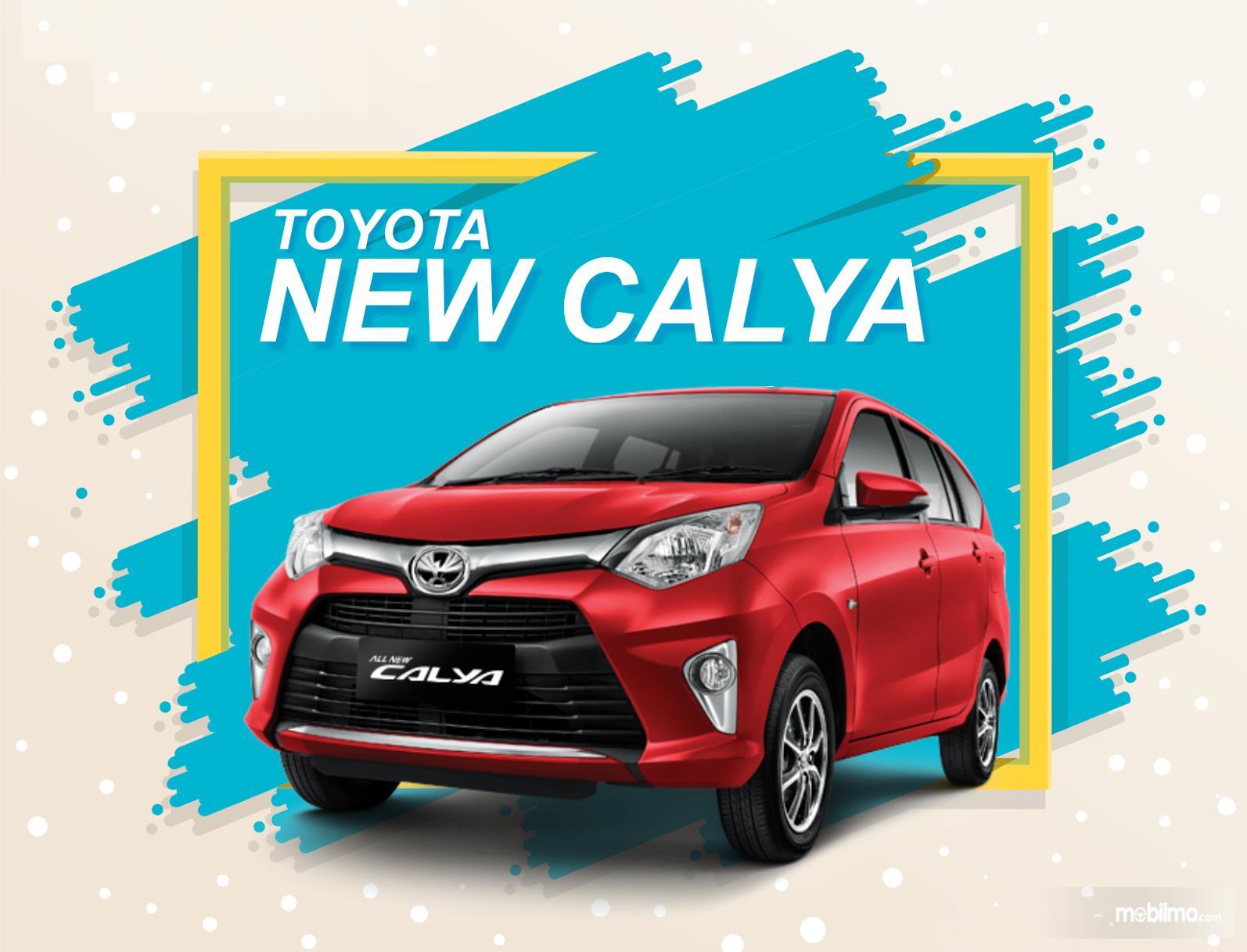 Foto Toyota Calya tampak dari depan