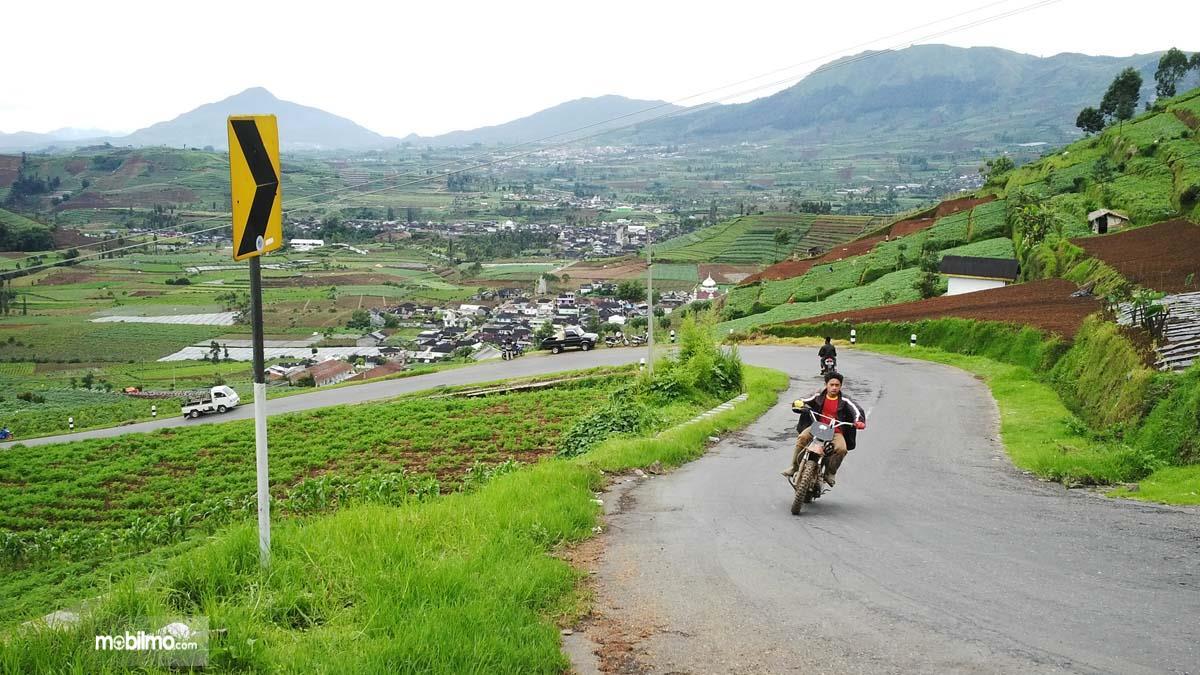 Foto salah satu jalanan di pegunungan Merbabu jawa Tengah