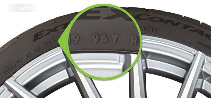 Pastikan load index pada ban baru sama dengan ban lama