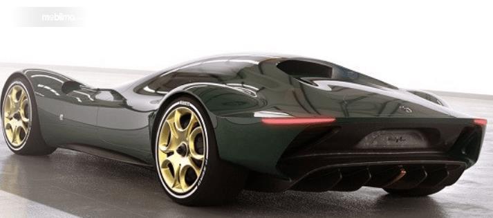 Gambar ini menunjukkan penampakan mobil masa depan dari Alfa Romeo