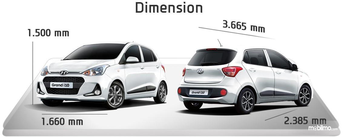 Hyundai Santro memiliki dimensi kurang dari 4 meter, sangat mumpuni ketika bermanufer di jalan-jalan sempit