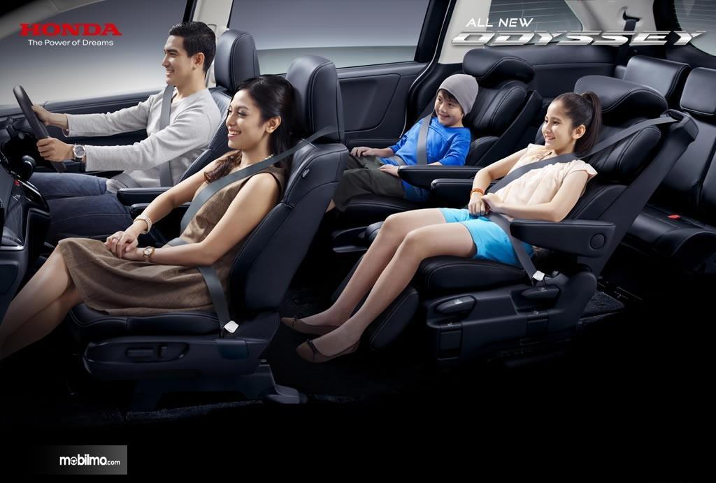 Foto Konfigurasi All New Honda Odyssey 2017 cukup lapang dan lega