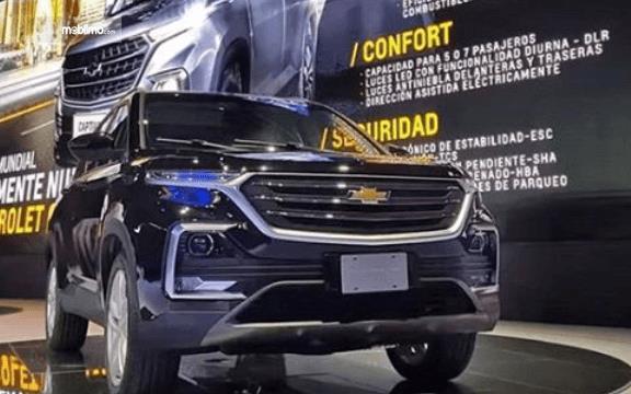 Gambar ini menunjukkan mobil  All New Chevrolet Captiva 2019 bagian depan