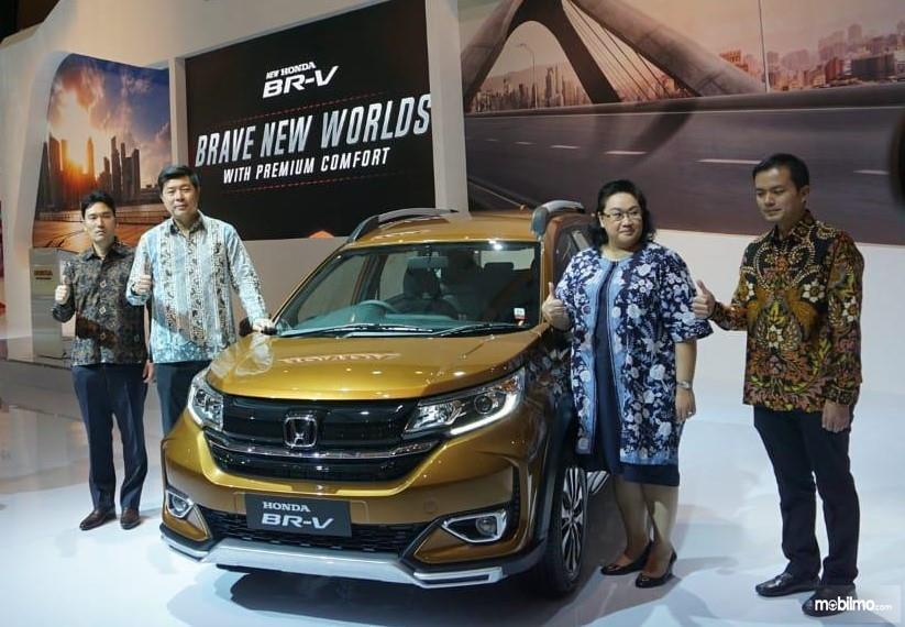 Foto New Honda BR-V saat diluncurkan di IIMS 2019