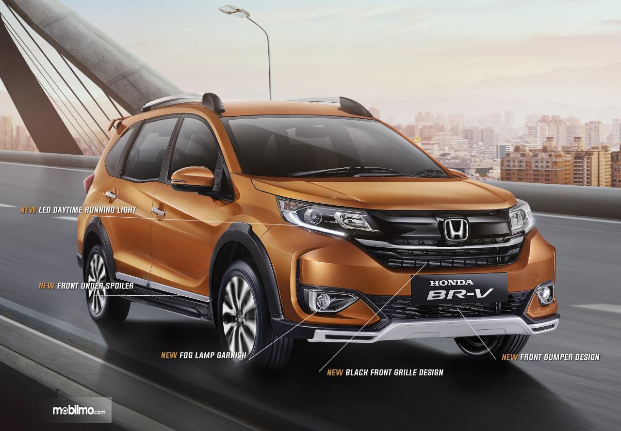 Desain baru New Honda BR-V dengan pembaruan di beberapa bagian