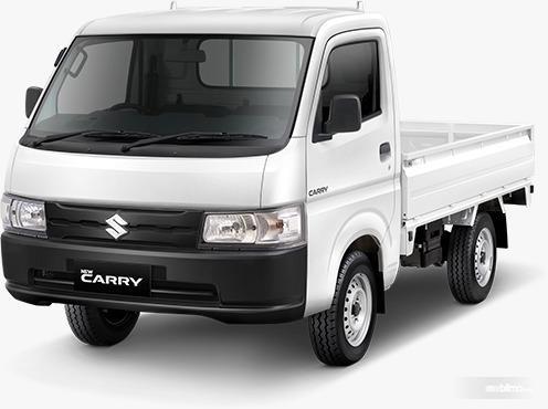 Gambar menunjukkan tampilan depan New Suzuki Carry Pick Up 2019