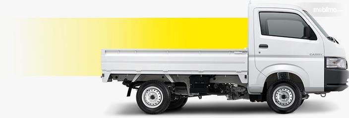 Gambar menunjukkan tampilan samping New Suzuki Carry Pick Up 2019